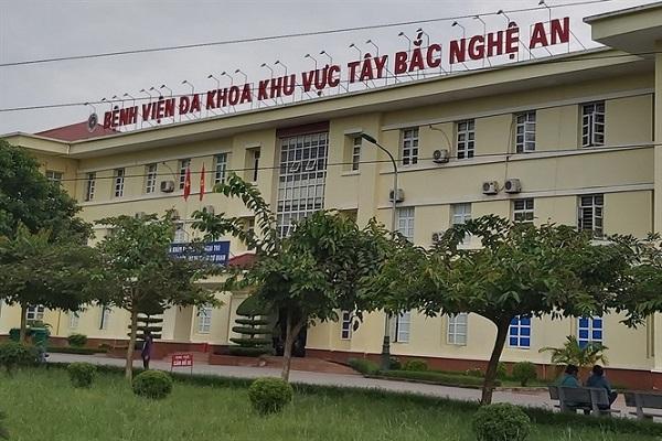 Bệnh viện Đa khoa khu vực Tây Bắc Nghệ An, nơi đang cách ly một nam bệnh nhân từng tiếp xúc gián tiếp với người nhiễm corona
