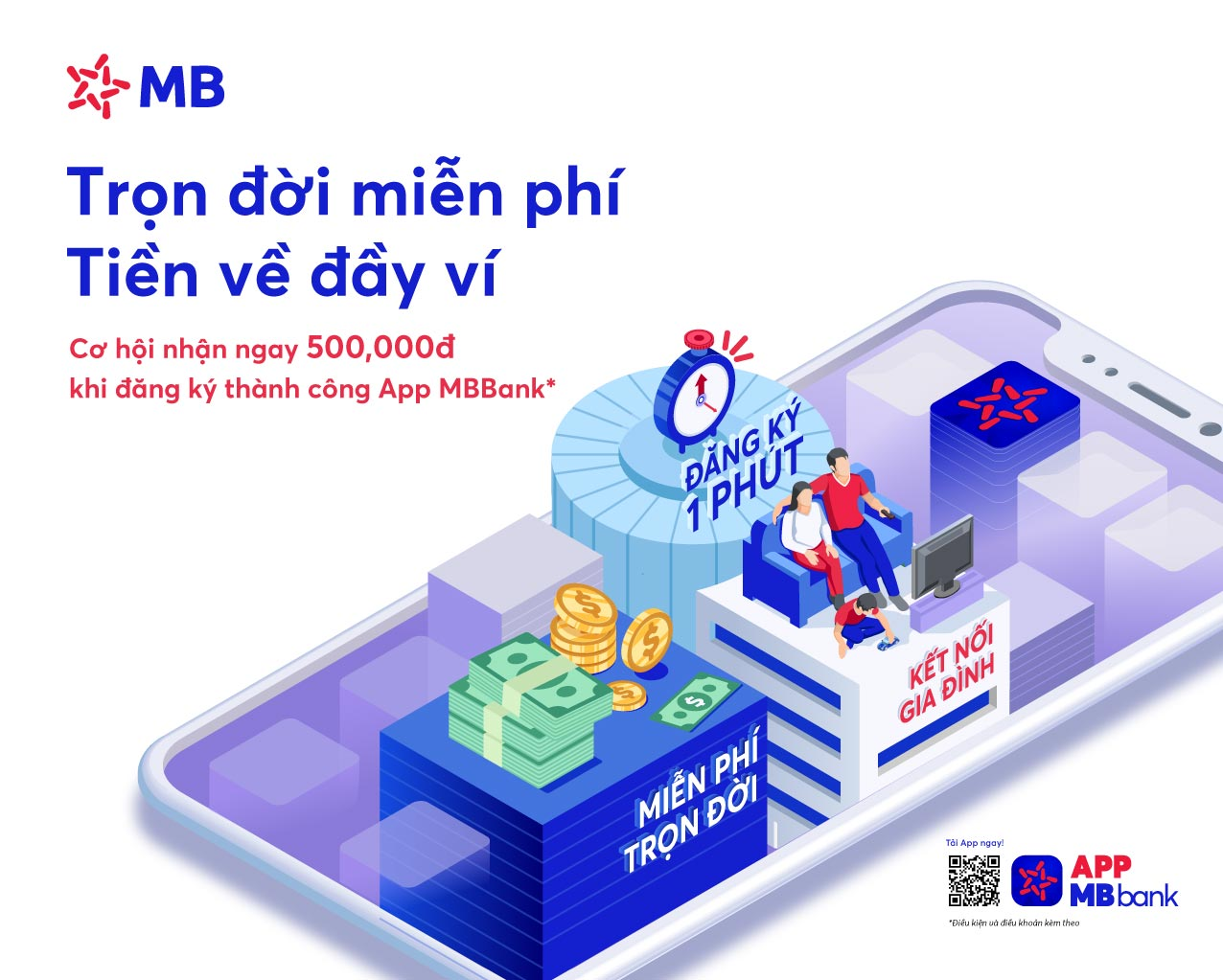 Với vài thao tác đơn giản, khách hàng có thể dùng App MBBank thanh toán ngay các loại hóa đơn