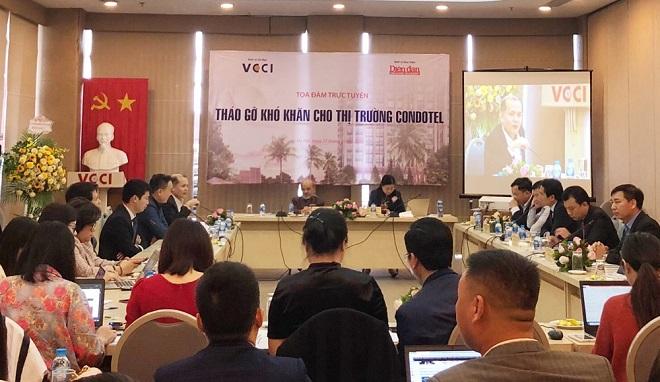 Tọa đàm: ''Tháo gỡ khó khăn cho thị trường condotel'' diễn ra sáng ngày 27/2/2020