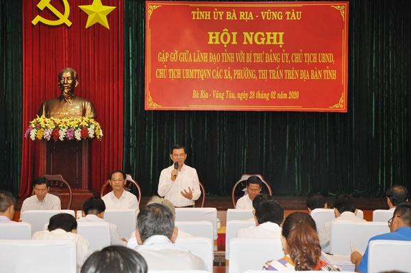 Ông Nguyễn Hồng Lĩnh, chỉ đạo tại hội nghị