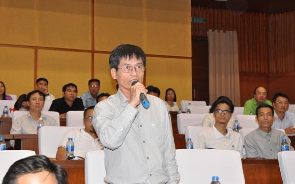 Ông  Nguyễn Ngọc Thông (Phụ trách đối ngoại) Công ty Cảng Quốc tế Sài Gòn Việt Nam kiến nghị xem xét quy định tỷ lệ góp vốn giữa đối tác Việt Nam và nước ngoài