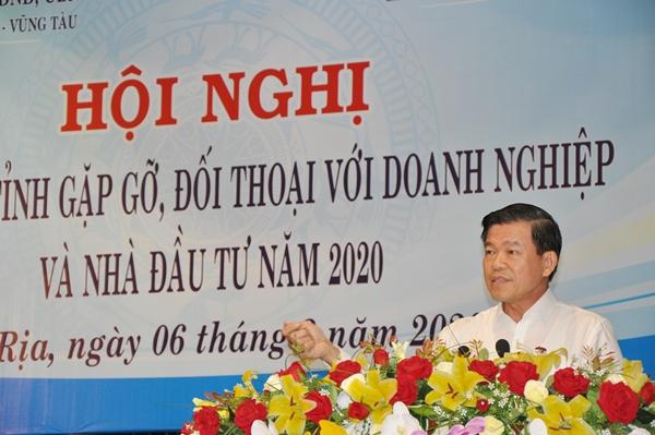 Ông  Nguyễn Hồng Lĩnh phát biểu tại buổi đối thoại