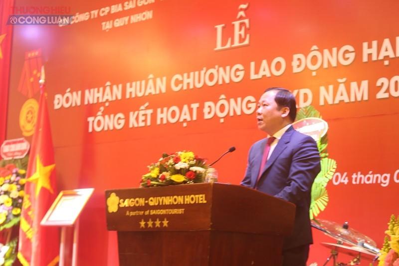 Phó Bí thư Tỉnh uỷ, Chủ tịch UBND tỉnh Nguyễn Phi Long phát biểu tại buổi lễ