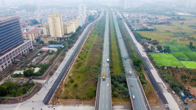 Đại lộ Thăng Long đến đường 32 là đoạn quan trọng của dự án đường Vành đai 3.5 - điểm nhấn hạ tầng giao thông nâng tầm giá trị bất động sản Hoài Đức trong tương lai gần. Ảnh: TL.