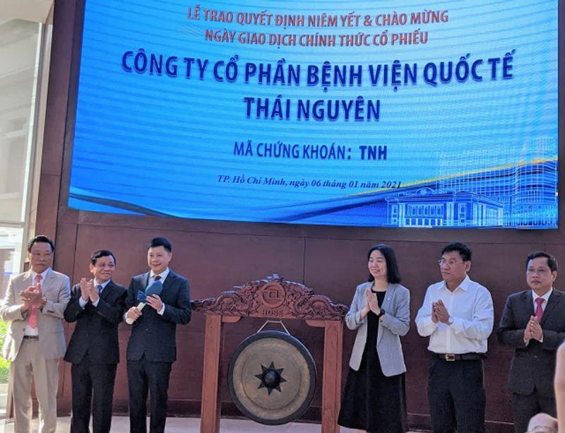 Bệnh viện Quốc tế Thái Nguyên vừa mới có ngày giao dịch chứng khoán đầu tiên trên sàn HoSE vào ngày 6/1/2021.