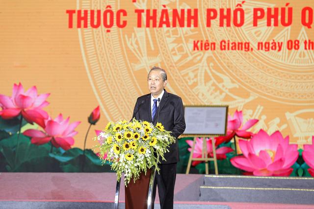 Phó Thủ tướng Chính phủ Trương Hòa Bình Phát biểu tại buổi lễ
