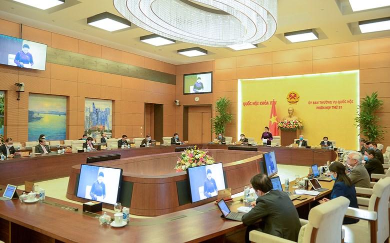 Một phiên họp của Uỷ ban Thường vụ Quốc hội