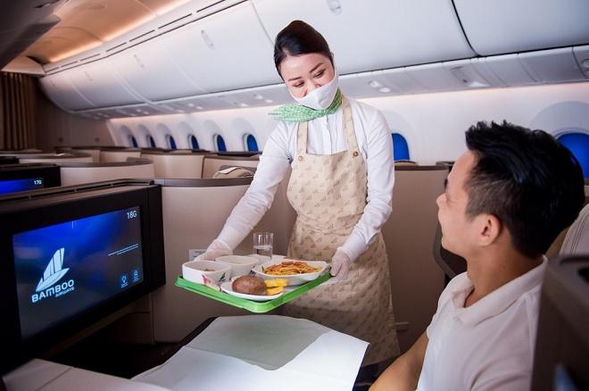 Hành khách được trải nghiệm các dịch vụ theo định hướng 5 sao quốc tế khi lựa chọn bay với Bamboo Airways.
