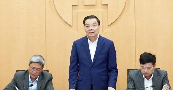 Một cuộc hội nghị giao ban công tác của UBND TP Hà Nội