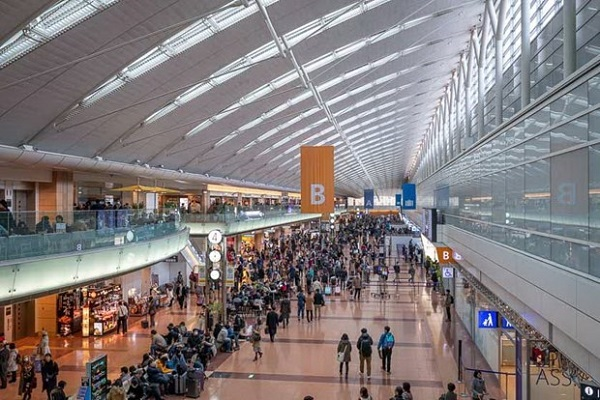 Sân bay ở Tokyo, Nhật Bản.