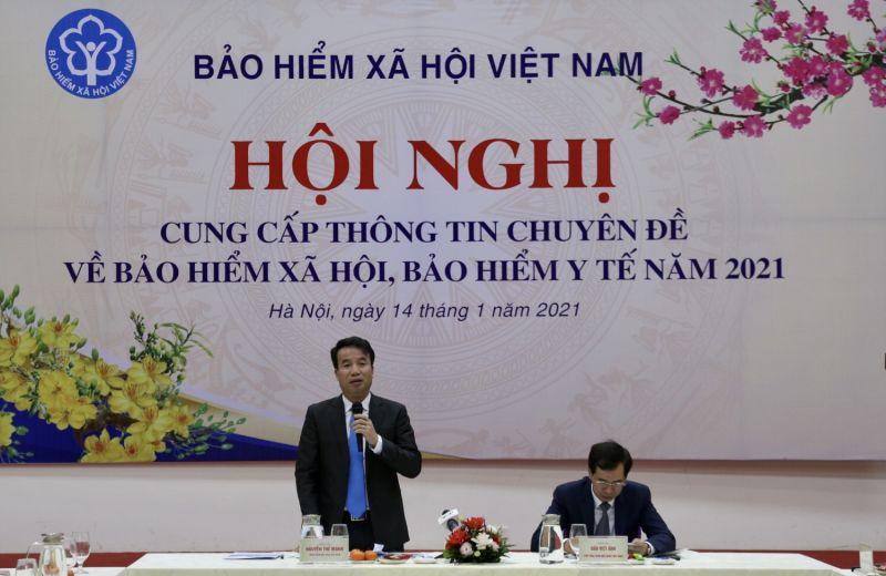 Tổng Giám đốc Nguyễn Thế Mạnh phát biểu tại hội nghị