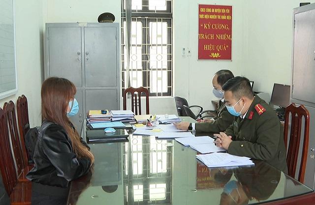 Các trường hợp xuất nhập cảnh trái phép sang Trung Quốc tại cơ quan Công an huyện Tiên Yên.