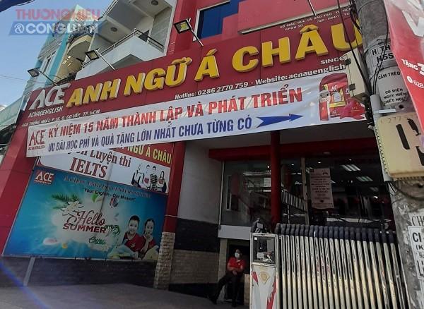 Trung tâm Anh ngữ Á Châu cơ sở 468 Thống Nhất, quận Gò Vấp, TP.HCM để trống phần giấy phép