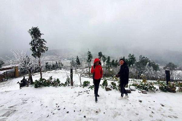 Xuất hiện mưa tuyết tại Sa Pa
