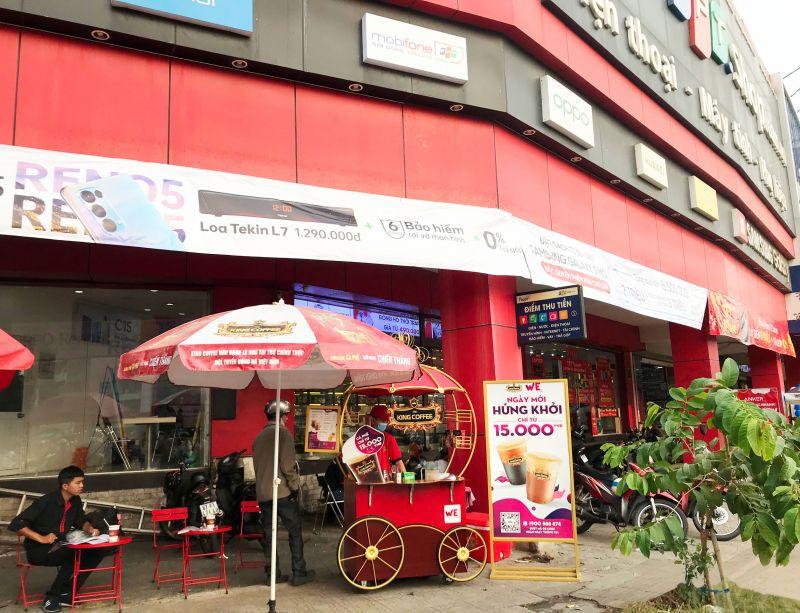 Một quán WEHome Café đặt trước hệ thống FPT Shop. (Ảnh: King Coffee).