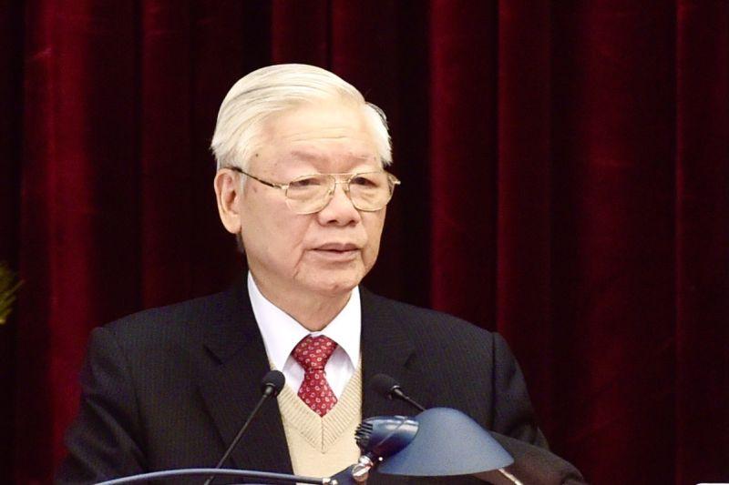 Tổng Bí thư, Chủ tịch nước Nguyễn Phú Trọng phát biểu khai mạc Hội nghị. Ảnh: VGP/Nhật Bắc
