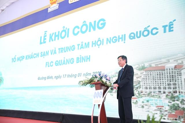 Ông Trần Thắng - Chủ tịch UBND tỉnh Quảng Bình phát biểu tại lễ khởi công