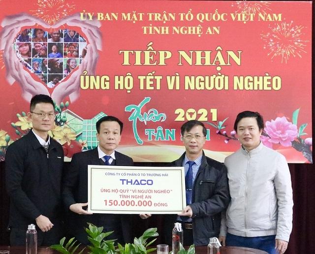 THACO đã ủng hộ hơn 17 tỷ đồng hỗ trợ người nghèo vui Tết Tân Sửu 2021