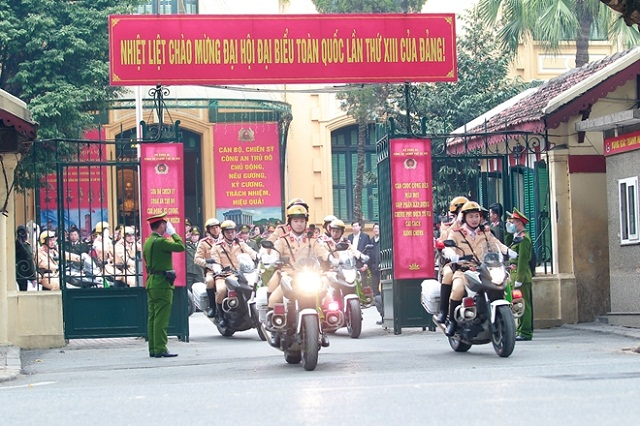 Công an TP Hà Nội ra quân, đảm bảo an ninh, an toàn phục vụ Đại hội Đảng lần thứ XIII