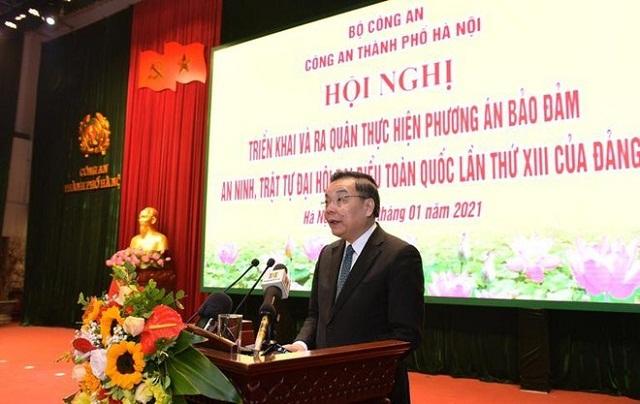 Đồng chí Chu Ngọc Anh, Chủ tịch UBND TP Hà Nội phát biểu tại buổi lễ.