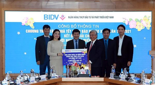 BIDV trao tặng 1 tỷ đồng quà Tết cho công nhân lao động nghèo thông qua Tổng Liên đoàn Lao động Việt Nam