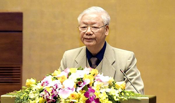 Tổng Bí thư, Chủ tịch nước Nguyễn Phú Trọng phát biểu chỉ đạo hội nghị. Ảnh: VGP/Nguyễn Hoàng
