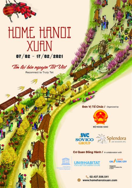 Đường hoa HOME HANOI XUAN 2021 còn tái hiện hình ảnh một Hà Nội tinh tế, giàu bản sắc qua những hoạt động văn hoá nghệ thuật, kết nối di sản từ quá khứ đến hiện tại, giới thiệu phong vị Tết xưa...