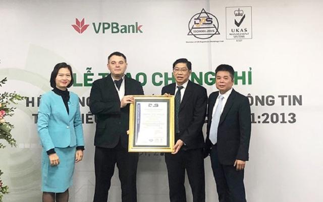 Chứng nhận ISO/IEC 27001:2013 của VPBank