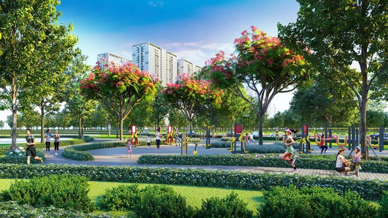Hệ thống tiện ích ngoại khu phong phú và đa dạng của Hinode Royal Park đáp ứng nhu cầu sống xanh, sống khỏe của cư dân