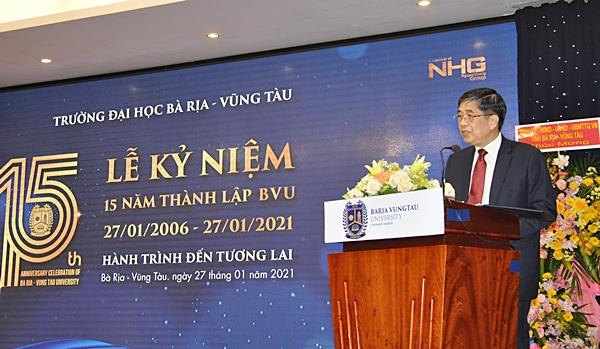 GS.TS Nguyễn Lộc, Hiệu trưởng Trường Đại học BR-VT điểm lại chặng đường 15 năm hình thành và phát triển