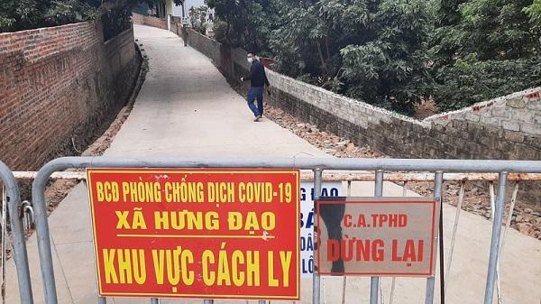 Khu vực cách ly trên địa bàn TP Chí Linh tỉnh Hải Dương