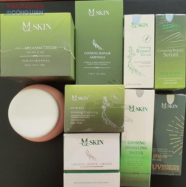 thông tin trên nhiều sản phẩm mang thương hiệu MQ Skin gây hiểu lầm cho khách hàng.