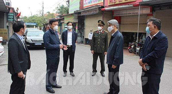 Bí thư tỉnh Hải Dương phê bình lãnh đạo huyện Kim Thành vì chỉ đạo chống dịch chưa nghiêm.