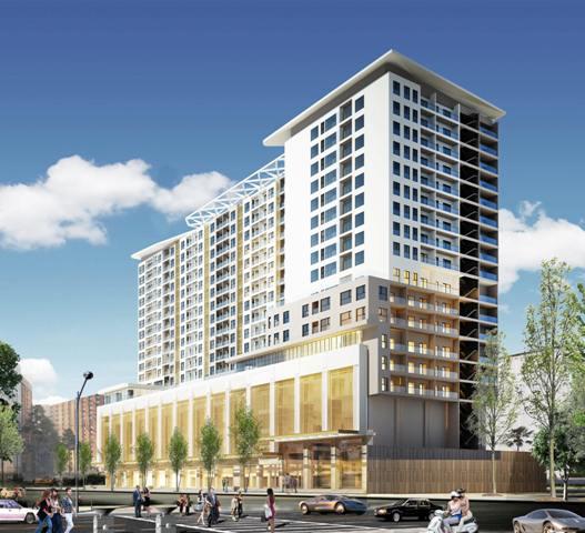 Dự án Trung tâm Thương mại- Dịch vụ- căn hộ cao cấp khu vực Đống Đa- Lý Thường Kiệt của Tập đoàn GOLD GROUP đang dần được hoàn thiện sẽ là điểm nhấn của khu vực trung tâm TP Huế