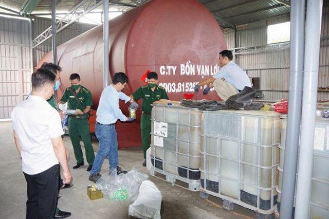 Hóa chất tại kho xăng giả tại Công ty TNHH TMVT xăng dầu 89, tỉnh Bà Rịa- Vũng Tàu