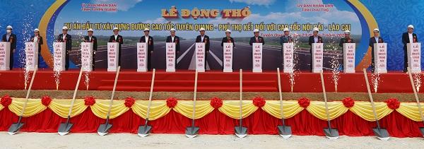 Thủ tướng Nguyễn Xuân Phúc dự lễ động thổ cao tốc Tuyên Quang - Phú Thọ