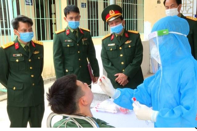 toàn tỉnh Thanh Hóa đã có 14/27 huyện, thị xã, thành phố, hoàn tất việc lấy mẫu xét nghiệm SARS-CoV-2 cho các thanh niên trúng tuyển nghĩa vụ quân sự.