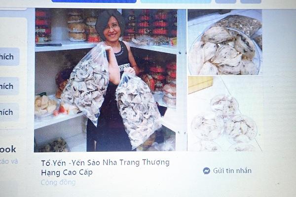 Hình ảnh được đăng quảng cáo trên trang