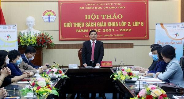 Giám đốc Sở GD&ĐT Nguyễn Văn Mạnh phát biểu tại hội thảo