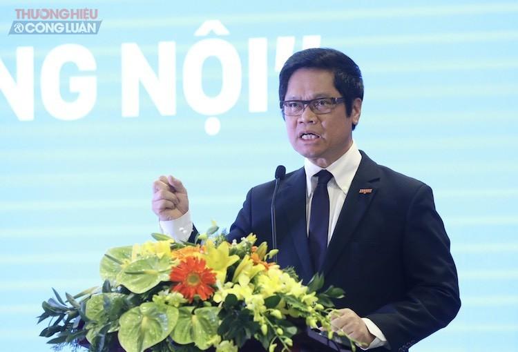 Ông Vũ Tiến Lộc, Chủ tịch Phòng Thương mại và Công nghiệp Việt Nam (VCCI) phát biểu tại hội thảo.