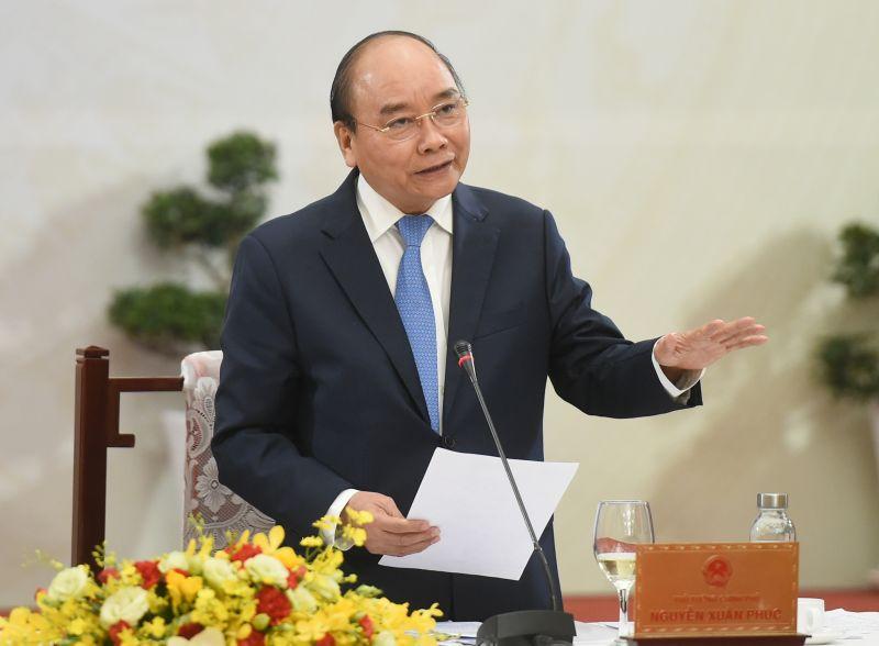 Thủ tướng Nguyễn Xuân Phúc: Đến 2045, sẽ xuất hiện các tập đoàn khổng lồ mang tên Việt Nam. Ảnh: VGP/Quang Hiếu