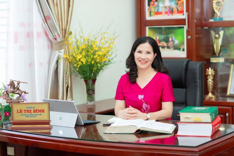 Dược sĩ Lê Thị Bình- TGĐ Công ty Dược phẩm Tâm Bình