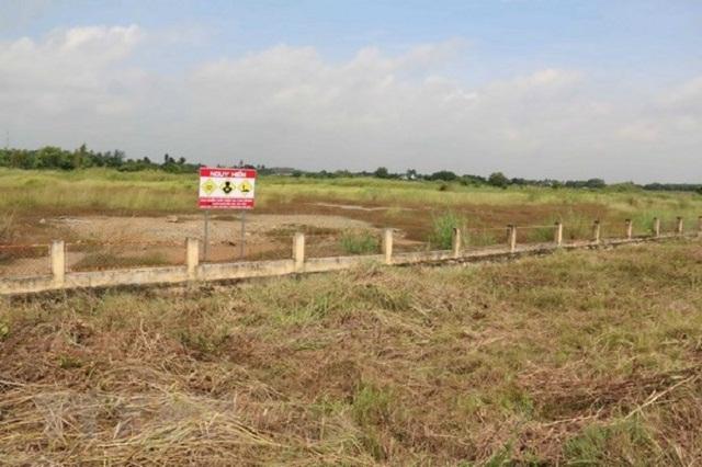 Khu vực ô nhiễm chất độc dioxin tại sân bay Biên Hòa.