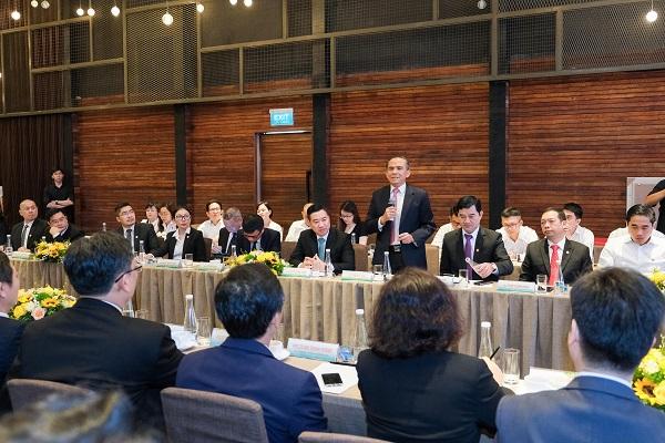 Ông Lê Hoàng Châu – Chủ tịch Hiệp hội BĐS TP.HCM tham dự sự kiện ký kết và góp ý trong phiên thảo luận hợp tác
