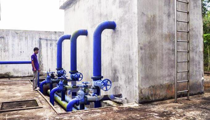 Bể xử lý nước của Nhà máy nước Bình Tường - Vĩnh An
