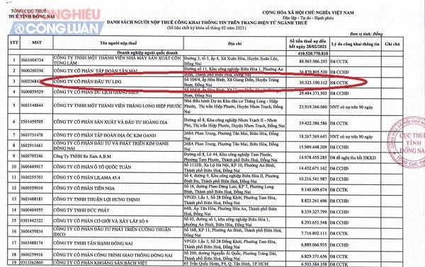 LDG Group tiếp tục bị bêu tên, đứng Top 3 trong danh sách nợ lần này