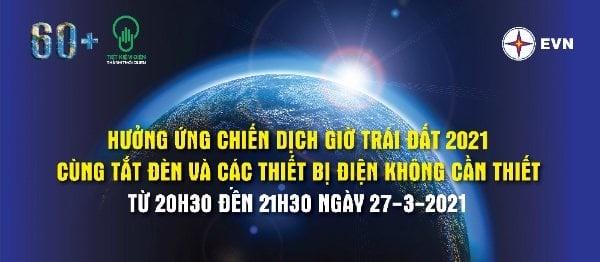 Hưởng ứng Giờ Trái Đất 2021