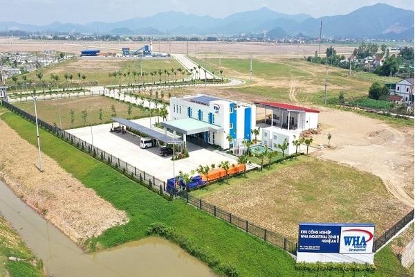 Một góc Khu công nghiệp WHA nằm trong KKT Đông Nam Nghệ An