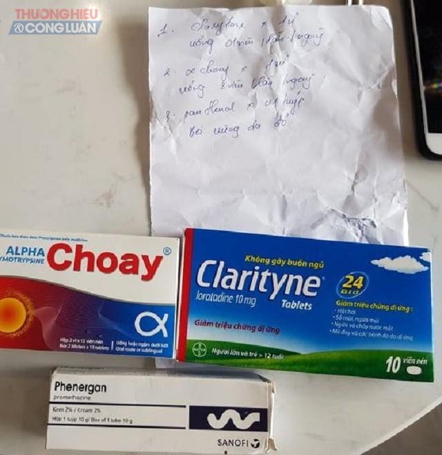Các loại thuốc mà venesa tại 56 Nguyễn Du kê đơn và đưa cho chị H sử dụng