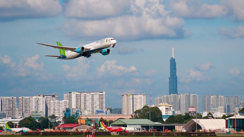 Bamboo Airways bay đúng giờ nhất 3 tháng (tính đến 18/3) với tỷ lệ 96,7%